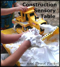 Preschool Powol Packets: Construction Sensory Table