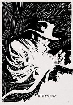 B Jim Steranko graphic.