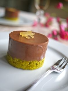 Chocolate, ginger and green tea mousse cake by @Victoria Glass