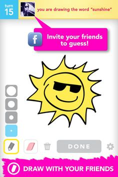 Play the Free version of Draw Something, the most popular social drawing and guessing game