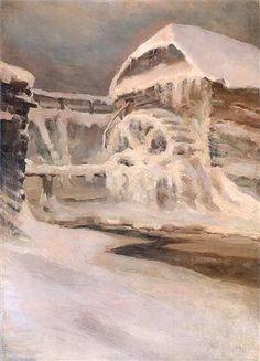 Mill in winter - Ferdynand Ruszczyc