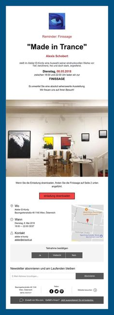 """Reminder: Finissage """"Made in Trance"""" Trance, Group, Artist, How To Make, Atelier, Trance Music, Amen, Artists"""