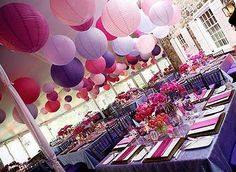 Whimsical lanterns - birthday party or girls' rooms