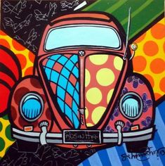 VW Volkswagon Beetle pop art illustration