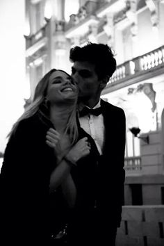 Black and white | You and me perfect two | Couple | Kiss | Formal | Relationship goal | Happiness always with you