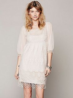 Free People Empire Mesh Lace Dress at Free People Clothing Boutique
