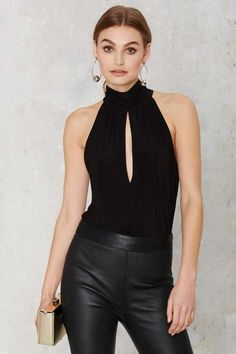 Nasty Gal Long Night Mock Neck Top - Best Sellers | Shirts + Blouses | Tops