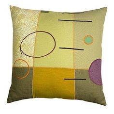 Parallel Lines: Susan Hill: Pillow | Artful Home