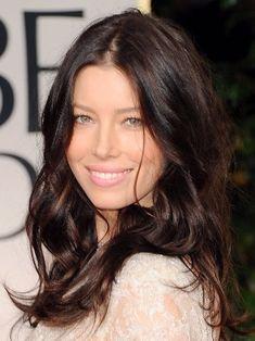 Dark mocha brown w auburn highlights..I wonder how I'd look with this color hair