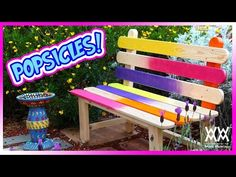 YouTube WWMM popsicle stick bench
