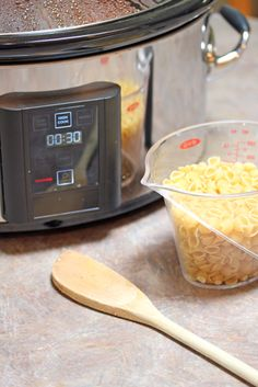 pasta in crock pot: To keep the pasta from getting soggy, add the shells plus 1 cup of hot water (or maybe more, depending on how much liquid is already in the slow cooker) when there is 30 minutes left in the cooking cycle.