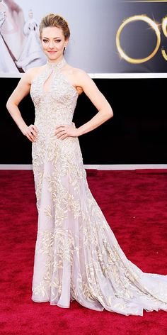 Amanda Seyfried in an Alexander McQueen gown at The Academy Awards 2013