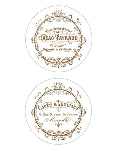 Progetti francesi di CD del francese dell'annata di DIY e printabile di stampa!