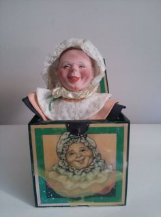 "Items similar to Mother Nature Musical Jack-In-The-Box First issue of four in ""Unseen People"" series by Faith Wick on Etsy Jack In The Box, Pop Goes The Weasel, Creepy Toys, Send In The Clowns, Old Dolls, Antique Toys, Vintage Ads, Doll Toys, Puppets"