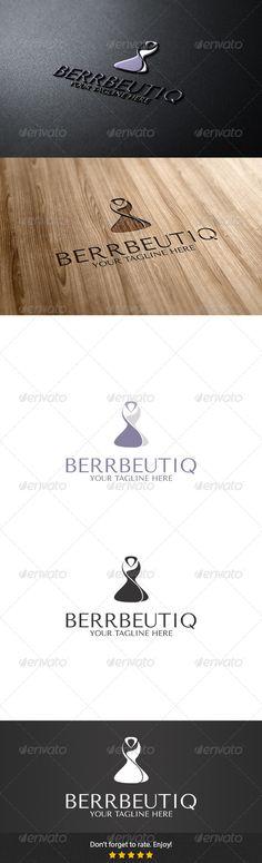 Berrbeutiq Logo — Vector EPS #gown #purple • Available here → https://graphicriver.net/item/berrbeutiq-logo/5679383?ref=pxcr