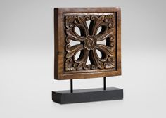 Large Carved Floral on Stand