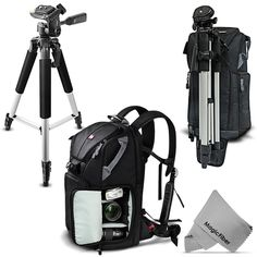 Large Bag Premium DSLR BackPack + 57'' Tripod for Nikon D7100 D5200 D3200 D3100