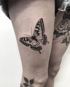 Butterfly http://tattooideas247.com/butterfly-thigh/