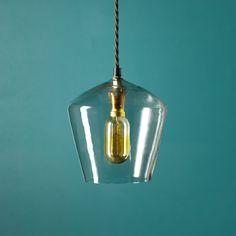 demijohn pendant in glass Pendant Lights Glass Pendant Light, Glass Pendants, Pendant Lighting, Ceiling Rose, Ceiling Lights, Lamp Light, Light Bulb, Pooky Lighting, Shop Lighting