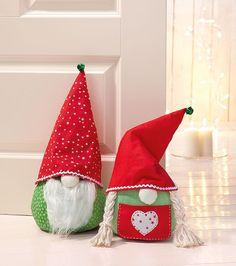 Anleitung: Weihnachtswichtel Türstopper nähen
