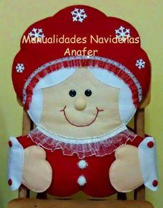 Hermosos muñecos navideños elaborados en fieltro, decorados en tela polar y greca. Se adaptan a cualquier tipo de silla.                  ...