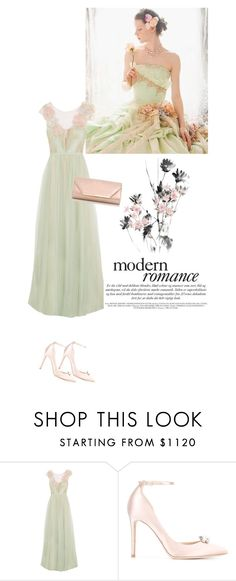 """A modern romance"" by fashion-and-beauty-miracles ❤ liked on Polyvore featuring Marchesa, Jimmy Choo, Dorothy Perkins and modern"