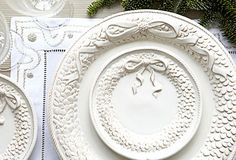 I LOVE THESE!  I have always wanted Christmas dinnerware, but I have never found any I really loved....this is it!