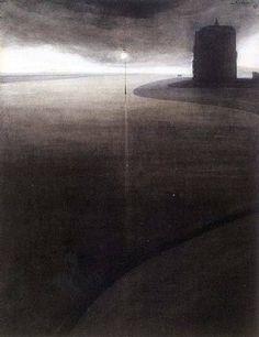 La Courbe de l'Esplanade, 1908. Léon Spilliaert