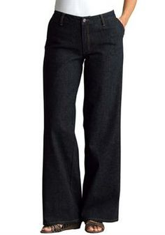 Tall jean, stretch, wide leg | Plus Size Tall Pants | Woman Within