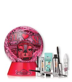 Benefit Cosmetics Eye Heart Sf Gift Set, Created for Macy's Benefit Cosmetics, Makeup Kit, Makeup Tools, Beauty Makeup, Makeup Ideas, Makeup Products, Face Makeup, Holiday Makeup, Christmas Makeup