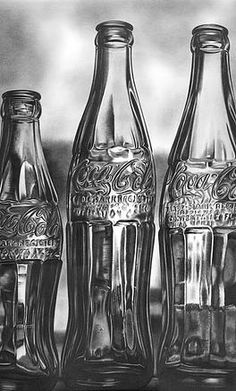 Coke Bottles Canvas Print / Canvas Art by Jerry Winick Coke Bottles Drawing by Jerry Winick Realistic Pencil Drawings, Graphite Drawings, Amazing Drawings, Amazing Art, Art Drawings, Realistic Sketch, Charcoal Drawings, Horse Drawings, Animal Drawings