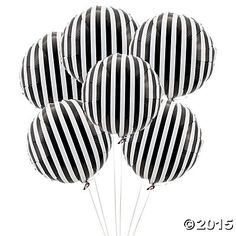 Black Striped Mylar Balloons from Oriental Trading Co