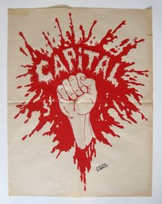 'CAPITAL', SCREENPRINT, 1968. Translation: 'Capital'. With the stamp of the Faculté de Sciences 'FAC DE SCIENCES'.