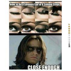 Close enough #funnypictures #lmao #hilarious #funnypics #smokeyeye #howto