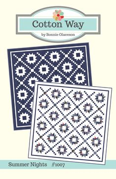 """Summer Nights PDF Pattern #1007 - 84"""" x 84"""" This pattern includes the instructions to make both versions of this quilt. Of course, the na..."""