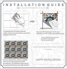 Bristol Kitchen Bathroom Backsplash Tile Wall Stair Floor | Etsy Tile Decals, Wall Tiles, Vinyl Decals, Wall Decal, Floor Decal, Peel And Stick Tile, Stick On Tiles, Kitchen Flooring, Kitchen Backsplash