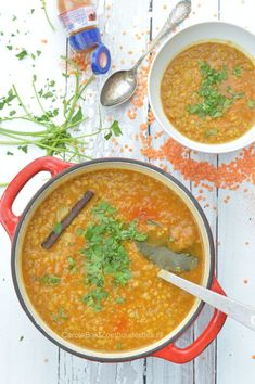 Good Healthy Recipes, Veggie Recipes, Healthy Drinks, Indian Food Recipes, Asian Recipes, Soup Recipes, Cooking Recipes, Dahl Recipe Indian, Vegan Lentil Soup