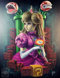 Princess Peach #Mario Art