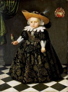 Portrait of a 5-year-old boy with a parrot by Jacob Gerritsz Cuyp, 1625-50, Musee de Picardie