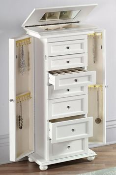 Hampton Bay Jewelry Armoire - Jewelry Armoires - Bedroom Furniture - Furniture | HomeDecorators.com #HomeDecorators