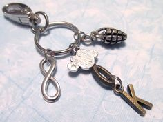 THE FAULT IN OUR STARS Keychain with FIVE Charms - Custom Orders Welcome
