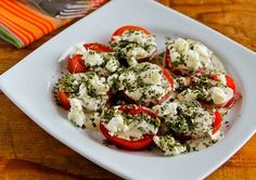 Kalyn's Kitchen®: Summer Tomato Salad with Goat Cheese, Basil Vinaigrette, and Fresh Herbs---This suggests using creamy goat cheese which I recently tried and really like -- (feta is O.K., too)