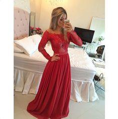 Barbara Melo Teodoro vestido vermelho festa