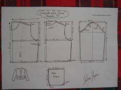 Jacket Chanel size One love ♥️ Blazer Pattern, Kimono Pattern, Jacket Pattern, Sew Pattern, Sewing Patterns Free, Clothing Patterns, Sewing Clothes, Diy Clothes, Underwear Pattern