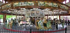 Greenfield Village Carousel - 1913 Herschell-Spillman Carousel at Greenfield Village Dearborn, MI - Model: Menagerie - Photo show courtesy of National Carousel Association - Gary Nance. Date of pictures: May 2006 Henry Ford Museum, The Mitten State, Port Huron, Detroit Area, Merry Go Round, Carousel Horses, Great Lakes, Historic Homes, Places Ive Been