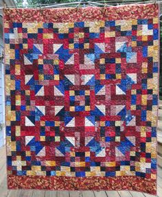 Quilt of Valor by Pam @ Hip to be a Square. Pattern from More Loose Change.