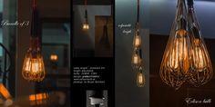 suspended light W Suspended Lighting, Vintage Lighting, Light Bulb, Home Decor, Decoration Home, Room Decor, Light Globes, Home Interior Design, Home Decoration