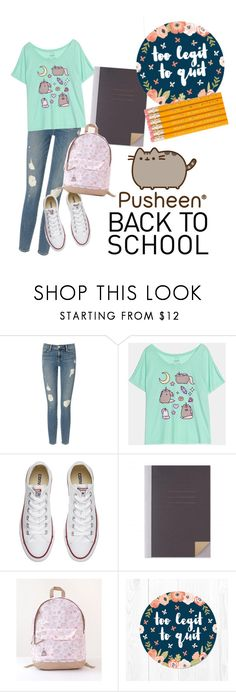 """#PVxPusheen"" by nikki15649 ❤ liked on Polyvore featuring Frame Denim, Pusheen, Converse, contestentry and PVxPusheen"