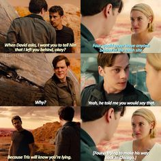 Divergent- Four + Tris. Divergent Film, Divergent Memes, Divergent Hunger Games, Divergent Fandom, Insurgent Quotes, Divergent Insurgent Allegiant, Tris Und Four, Narnia, Once Upon A Time