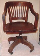 Vintage Banker/Office/Desk/Task Chair Swivels/Rolls/Height/Tilt Adjust